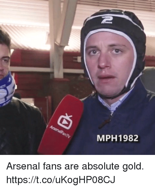 Arsenal, Soccer, and Gold: MPH1982 Arsenal fans are absolute gold. https://t.co/uKogHP08CJ