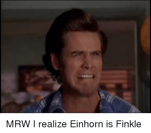 Einhorn Is Finkle: MRW I realize Einhorn is Finkle