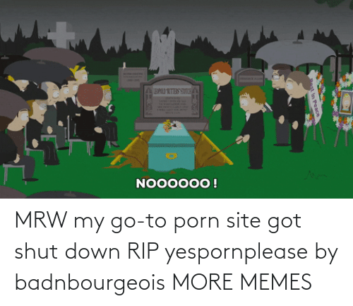 site: MRW my go-to porn site got shut down RIP yespornplease by badnbourgeois MORE MEMES