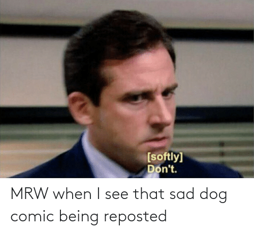 MRW: MRW when I see that sad dog comic being reposted