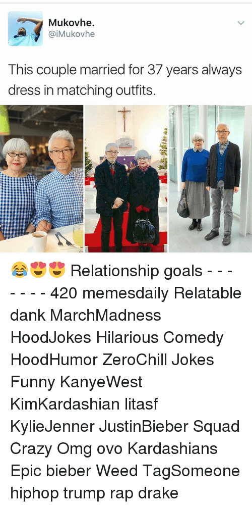 Funnyes: Mukovhe.  aiMukovhe  This couple married for 37 years always  dress in matching outfits 😂😍😍 Relationship goals - - - - - - - 420 memesdaily Relatable dank MarchMadness HoodJokes Hilarious Comedy HoodHumor ZeroChill Jokes Funny KanyeWest KimKardashian litasf KylieJenner JustinBieber Squad Crazy Omg ovo Kardashians Epic bieber Weed TagSomeone hiphop trump rap drake