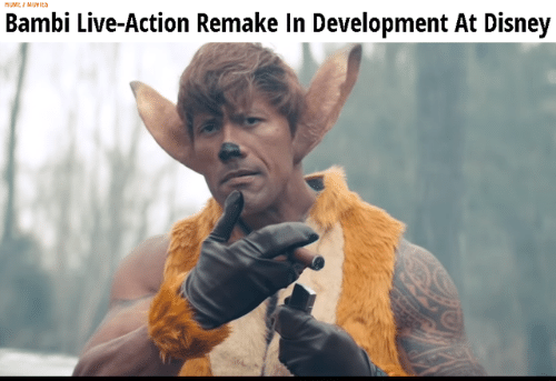 Live Action: MUMEI MUYIEa  Bambi Live-Action Remake In Development At Disney