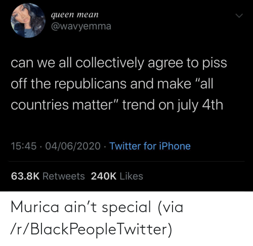 special: Murica ain't special (via /r/BlackPeopleTwitter)