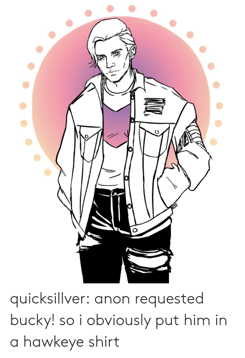 hawkeye: MUSE quicksillver: anon requested bucky! so i obviously put him in a hawkeye shirt