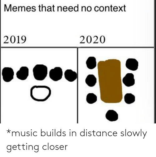 Distance: *music builds in distance slowly getting closer