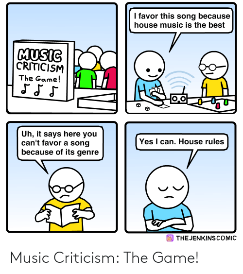 Game: Music Criticism: The Game!