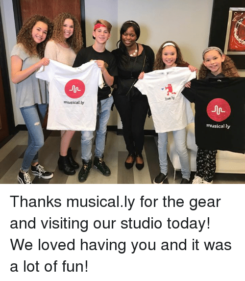 Musical Ly: musically  lively  musically Thanks musical.ly for the gear and visiting our studio today!  We loved having you and it was a lot of fun!