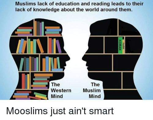 Muslims Lack of Education and Reading Leads to Their Lack of ...