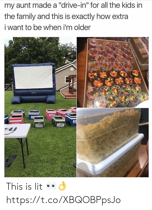 "sammy: my aunt made a ""drive-in"" for all the kids in  the family and this is exactly how extra  i want to be when i'm older  OA  SAMMY  KORBEN This is lit 👀👌 https://t.co/XBQOBPpsJo"