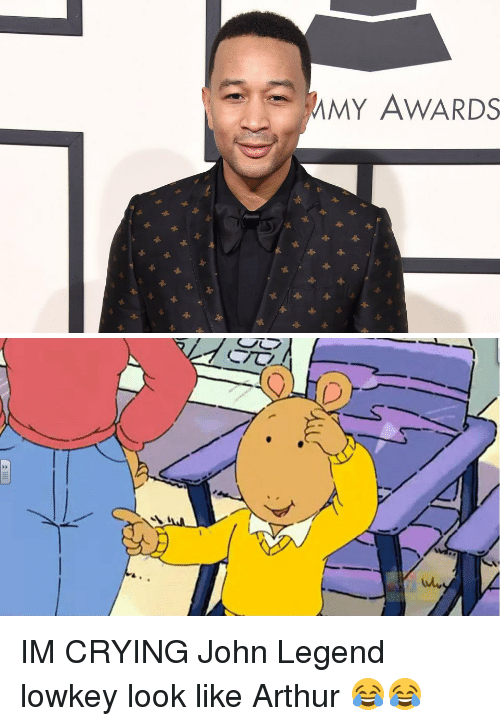 Arthur, Blackpeopletwitter, and Crying: MY AWARDS   D  ク IM CRYING John Legend lowkey look like Arthur 😂😂