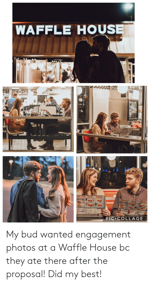 the proposal: My bud wanted engagement photos at a Waffle House bc they ate there after the proposal! Did my best!