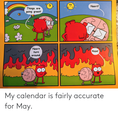 accurate: My calendar is fairly accurate for May.