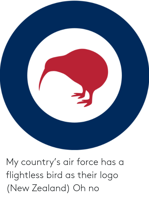 bird: My country's air force has a flightless bird as their logo (New Zealand) Oh no