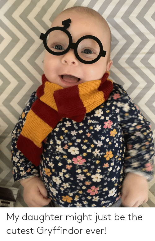 Gryffindor: My daughter might just be the cutest Gryffindor ever!