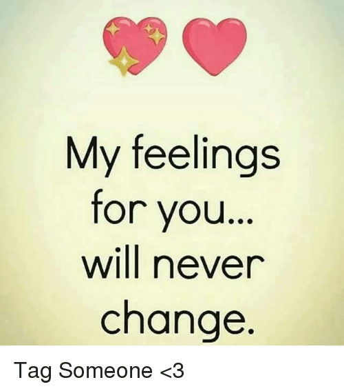 My Feels: My feelings  for you  will never  change Tag Someone <3