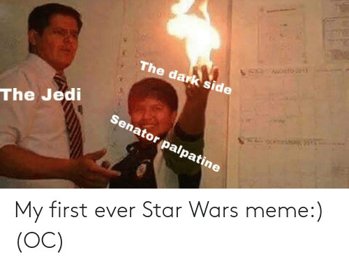 star wars meme: My first ever Star Wars meme:) (OC)