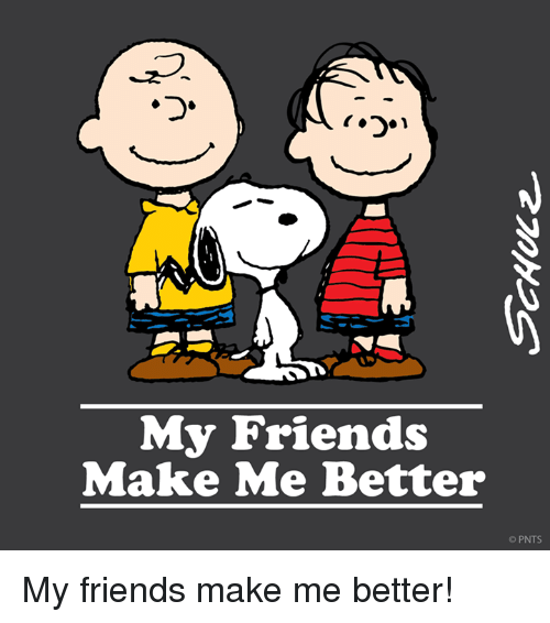 Friends, Memes, and 🤖: My Friends  Make Me Better  PNTS. My friends make me better!