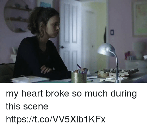 Funny, Heart, and Scene: my heart broke so much during this scene https://t.co/VV5Xlb1KFx