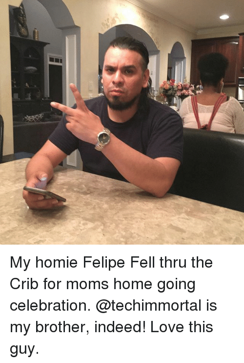 cribs: My homie Felipe Fell thru the Crib for moms home going celebration. @techimmortal is my brother, indeed! Love this guy.