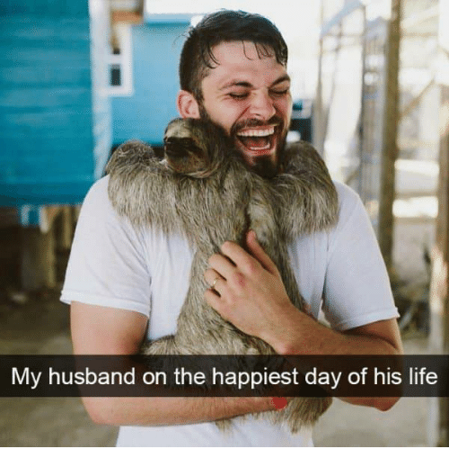 Life, Husband, and Day: My husband on the happiest day of his life