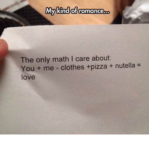 Worksheets Images Only Math clothes meme my kind of romancero the only math l care about you love and pizza care