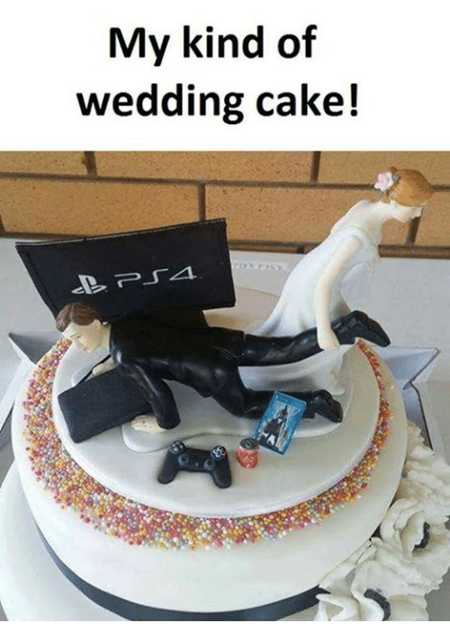 Caking: My kind of  wedding cake!