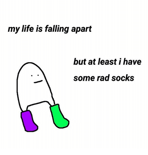 Life, Rad, and Falling: my life is falling apart  but at least i have  some rad socks