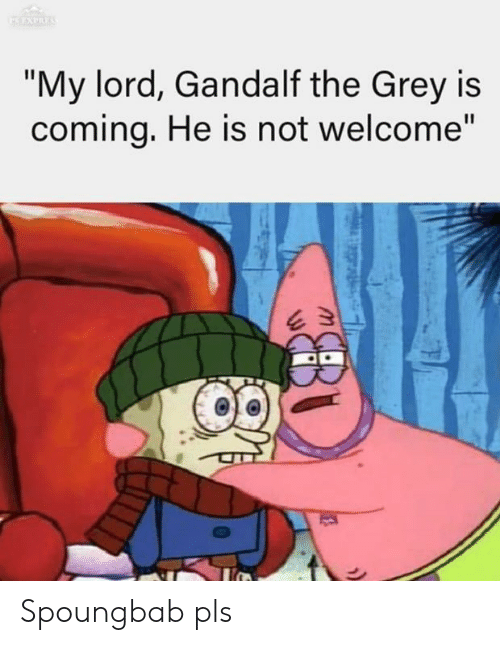 "Gandalf: ""My lord, Gandalf the Grey is  comina, He is not welcome"" Spoungbab pls"