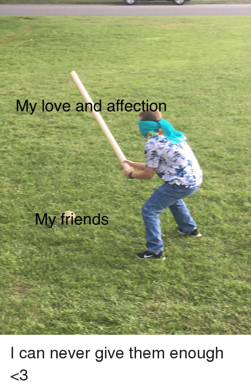 Friends, Love, and Never: My love and affection  My friends