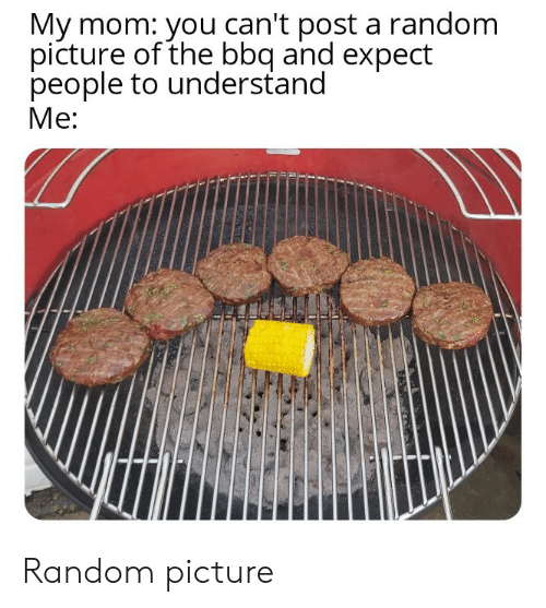 bbq: My mom: you can't post a random  picture of the bbq and expect  people to understand  Me: Random picture