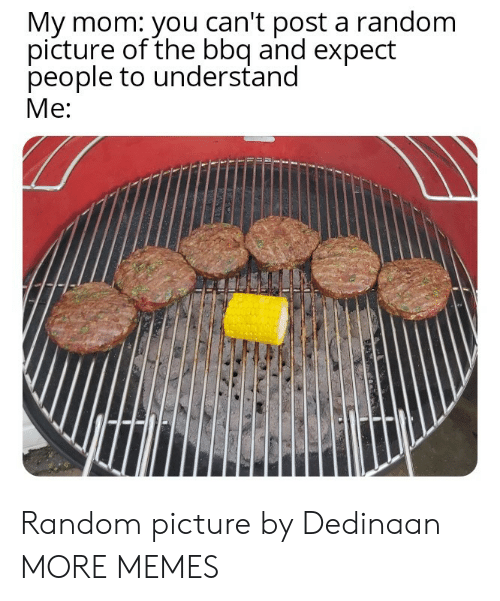 bbq: My mom: you can't post a random  picture of the bbq and expect  people to understand  Me: Random picture by Dedinaan MORE MEMES