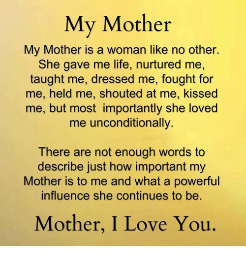 describe my mother Essays - largest database of quality sample essays and research papers on describe my mother.