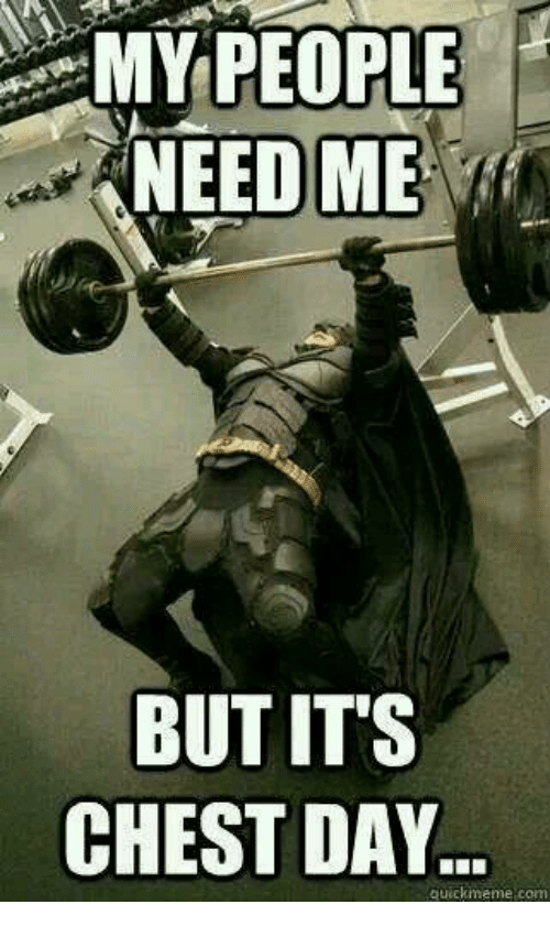 My People Need Me: MY PEOPLE  NEED ME  BUT ITS  CHEST DAY  quickmeme com