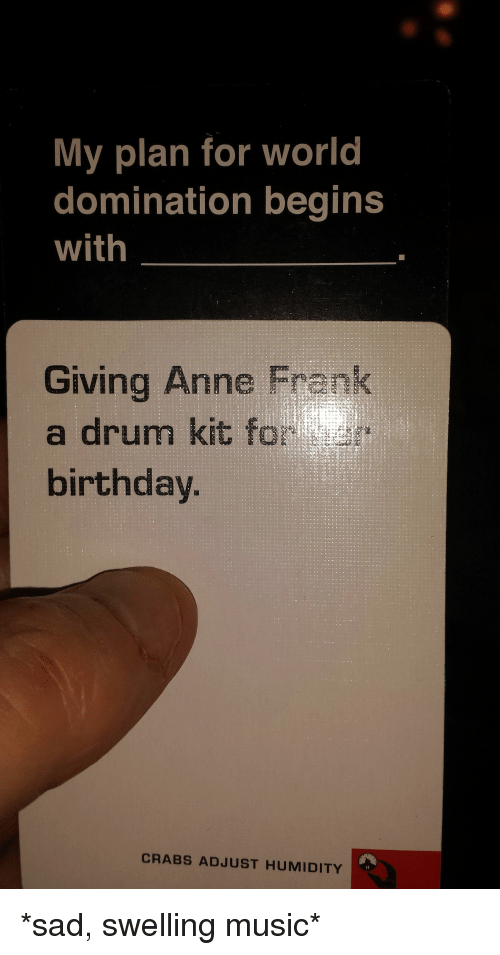 25 Best Memes About Anne Frank Birthday Cardsagainsthumanity