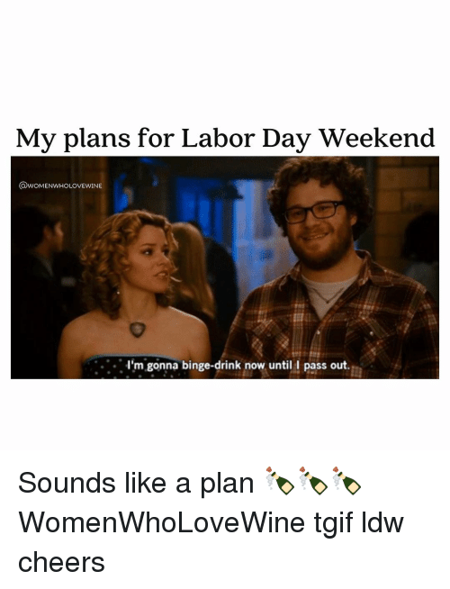 Funny Memes For Labor Day : My plans for labor day weekend odwomenwholovewine i m