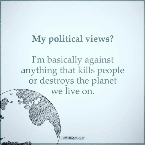 my view on politics Quotations about politics and politicians, from the quote garden.