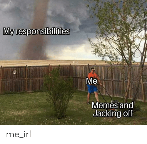 jacking off: My responsibilities  Memes and  Jacking off me_irl