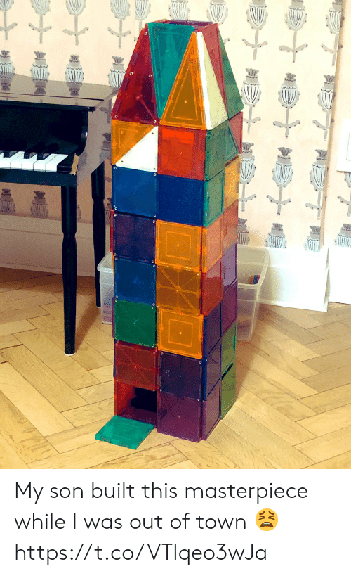 masterpiece: My son built this masterpiece while I was out of town 😫 https://t.co/VTIqeo3wJa