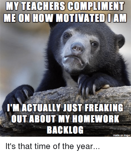 I can't do my homework because i'm depressed