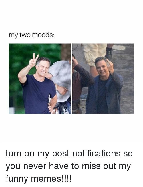 Funny, Memes, and Girl Memes: my two moods: turn on my post notifications so you never have to miss out my funny memes!!!!