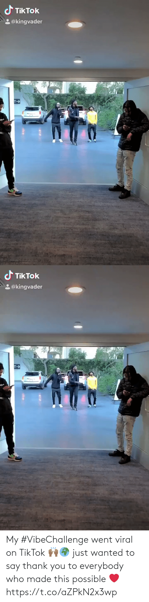 Everybody: My #VibeChallenge went viral on TikTok 🙌🏾🌍 just wanted to say thank you to everybody who made this possible ❤️ https://t.co/aZPkN2x3wp