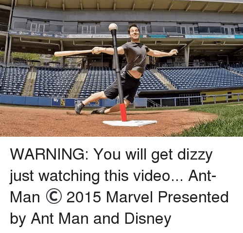 ant man: My WARNING: You will get dizzy just watching this video... Ant-Man © 2015 Marvel Presented by Ant Man and Disney