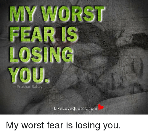 my worst fear Lyrics to my own worst enemy by lit: can we forget about the things i said when i was drunk / i didn't mean to call you that / i can't.
