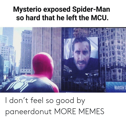 mcu: Mysterio exposed Spider-Man  so hard that he left the MCU  MADISON S I don't feel so good by paneerdonut MORE MEMES