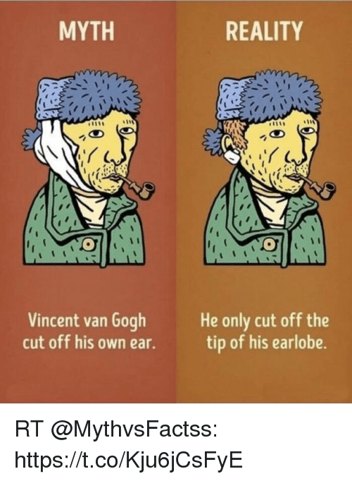Myth Reality Vincent Van Gogh Cut Off His Own Ear He Only