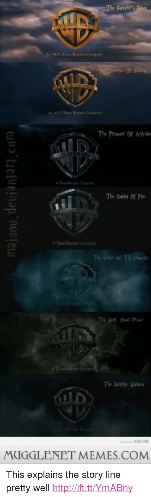 "adl: n ADL. Time Warner Company  ADL Time Worner Company  The Prinet Of Ak  Tmearner Coa  nS0RE.COM  MUGGLENET MEMES.COM <p>This explains the story line pretty well <a href=""http://ift.tt/YmABny"">http://ift.tt/YmABny</a></p>"