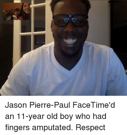N Jason Pierre-Paul FaceTime'd An 11-Year Old Boy Who Had