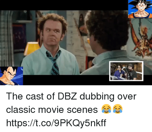 Funny, Movie, and Dbz: N The cast of DBZ dubbing over classic movie scenes 😂😂 https://t.co/9PKQy5nkff