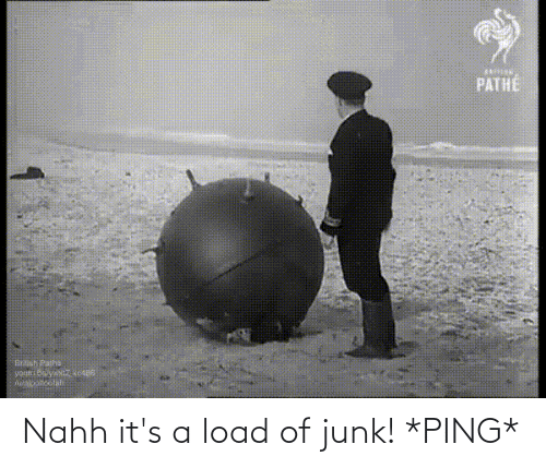 junk: Nahh it's a load of junk! *PING*