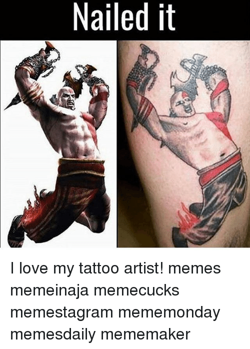 Funny nailed it memes of 2017 on sizzle for Funny tattoo memes